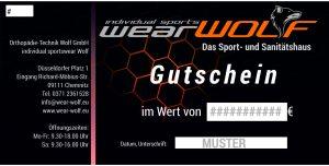 Sportswear Wolf Gutschein
